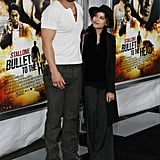 Jason and Zoë hit the red carpet for the NYC premiere of Jason's movie Bullet to the Head in January 2013.
