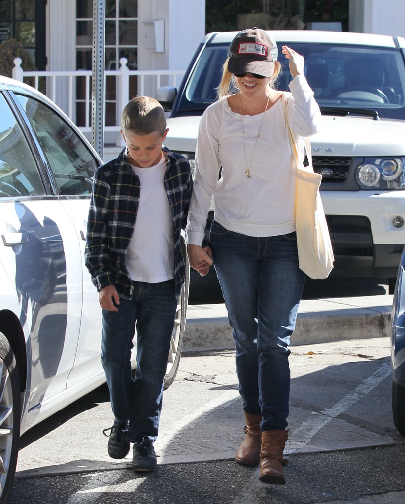 Reese Witherspoon walked with her son Deacon in LA.