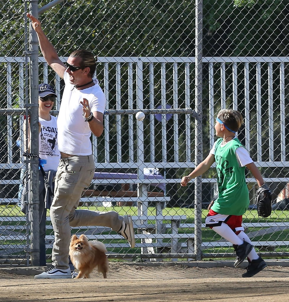 Gavin Rossdale played baseball with Kingston Rossdale.