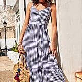 Old Navy Printed Fit & Flare Tiered Maxi Sundress for Women
