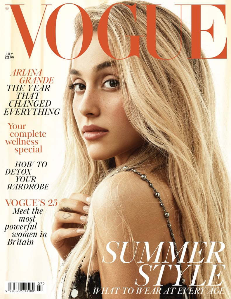 Ariana Grande Wears Her Hair Down on Vogue UK Cover
