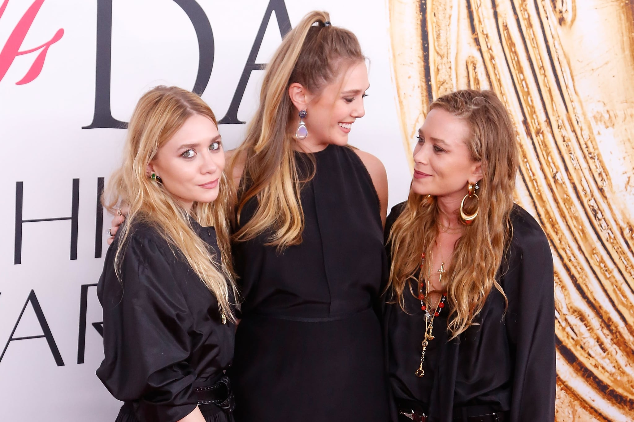 NEW YORK, NY - JUNE 06:  Ashley Olsen, Elizabeth Olsen, and Mary-Kate Olsen attend the 2016 CFDA Fashion Awards at the Hammerstein Ballroom on June 6, 2016 in New York City.  (Photo by Taylor Hill/FilmMagic)
