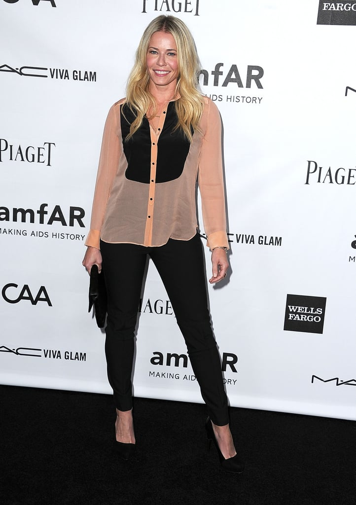 Chelsea Handler posed for photos at the amfAR 3rd Annual Inspiration Gala in LA.