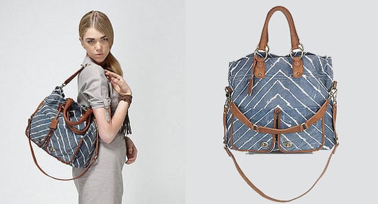 Hayden-Harnett Chevron Printed Langly Laptop Tote Bag