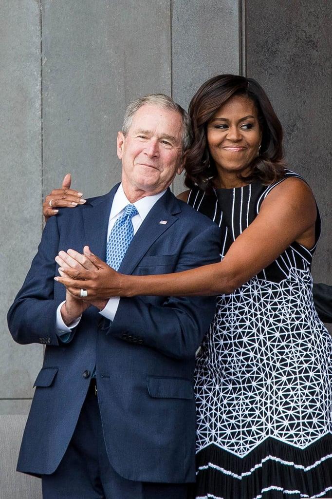 Are Michelle Obama and George W. Bush Friends?