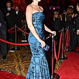 Katy Perry wore Vera Wang at the 2013 Delete Blood Cancer Gala in New York. Source: Joe Schildhorn/BFAnyc.com