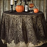 Heritage Lace Spider Web Round Tablecloth in Black