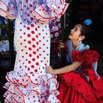 Women Dressed in Flamenco Splash Spain With Color