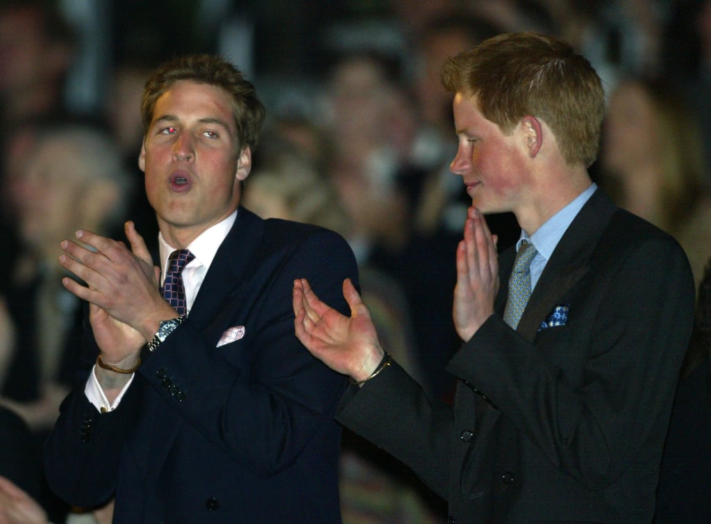 Prince William and Prince Harry showed off their rhythm dancing at the Queen's Golden Jubilee celebrations in London in June 2002.