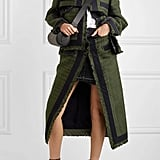 Sacai Paneled Canvas-Trimmed Tweed and Denim Set