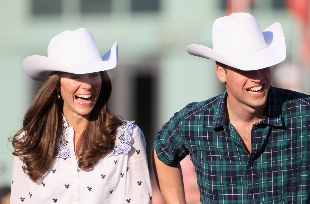 Kate Middleton and Prince William looked to be enjoying the Calgary rodeo.