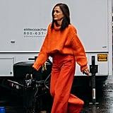 How to Wear a Monochrome Outfit in Orange