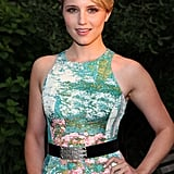 Dianna Agron wore a floral-printed dress to Coach's Summer Party on the High Line in NYC.
