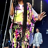 Solange Knowles sang at the festival.