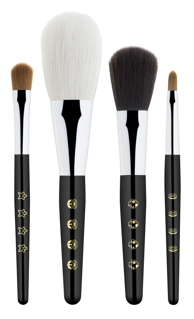 Shu Uemura x Super Mario Bros Peach's Favorite Premium Brush Set, $69
