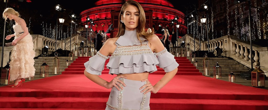 Kaia Gerber Ralph and Russo Look at Fashion Awards 2017