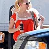 January Jones at a prop house in LA.