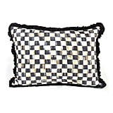 Courtley Check Ruffled Lumbar Pillow ($108)
