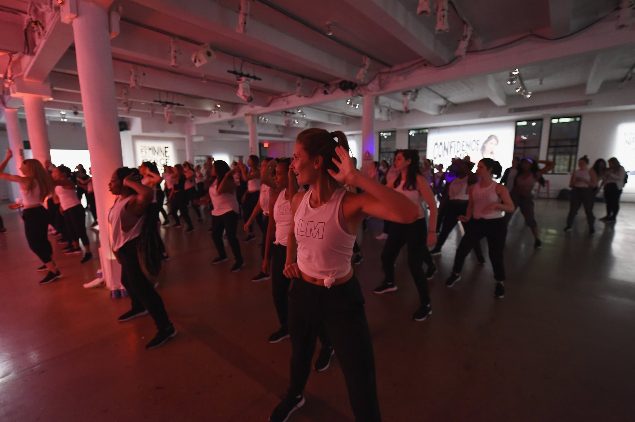 NEW YORK, NY - SEPTEMBER 27:  Guests attends as Reebok and Nina Dobrev host the Donate in Sweat NYC event, bringing together media and influencers to celebrate their shared commitment to female empowerment and showcase the newest Les Mills BODYJAM workout, at Hudson Mercantile on September 27, 2018 in New York City.  (Photo by Ilya S. Savenok/Getty Images for Reebok)