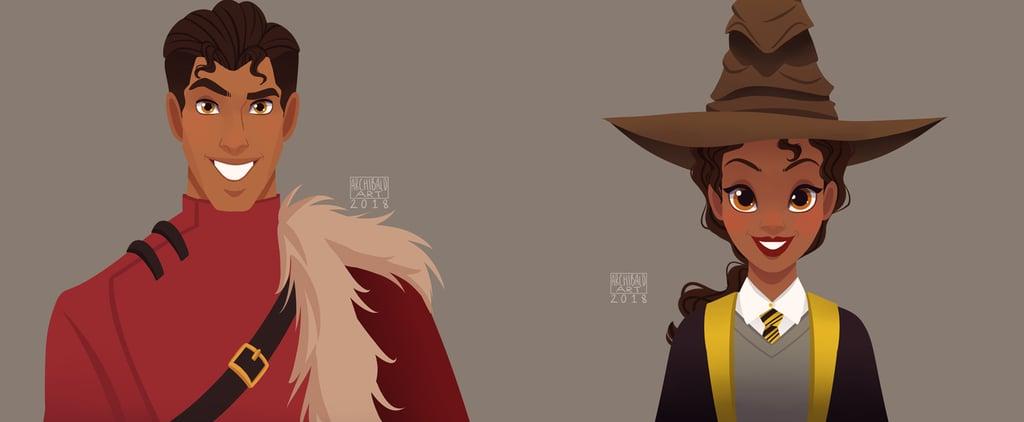 Disney Princesses Sorted Into Hogwarts Houses Artwork
