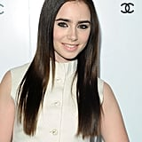 Lily Collins's Straight Hair in 2012