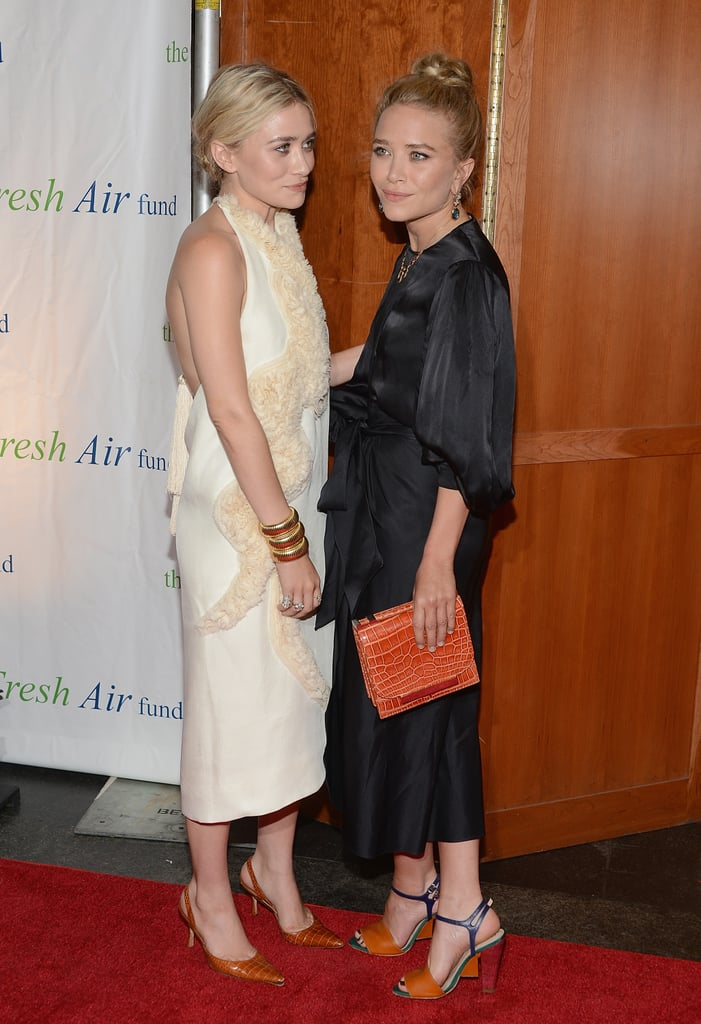 Mary-Kate Olsen and Ashley Olsen smiled at the Fresh Air Fund's Spring Gala in NYC.