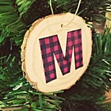 Buffalo Plaid Initial