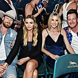Pictured: Brian Kelley, Brittney Kelley, Tyler Hubbard, and Hayley Hubbard