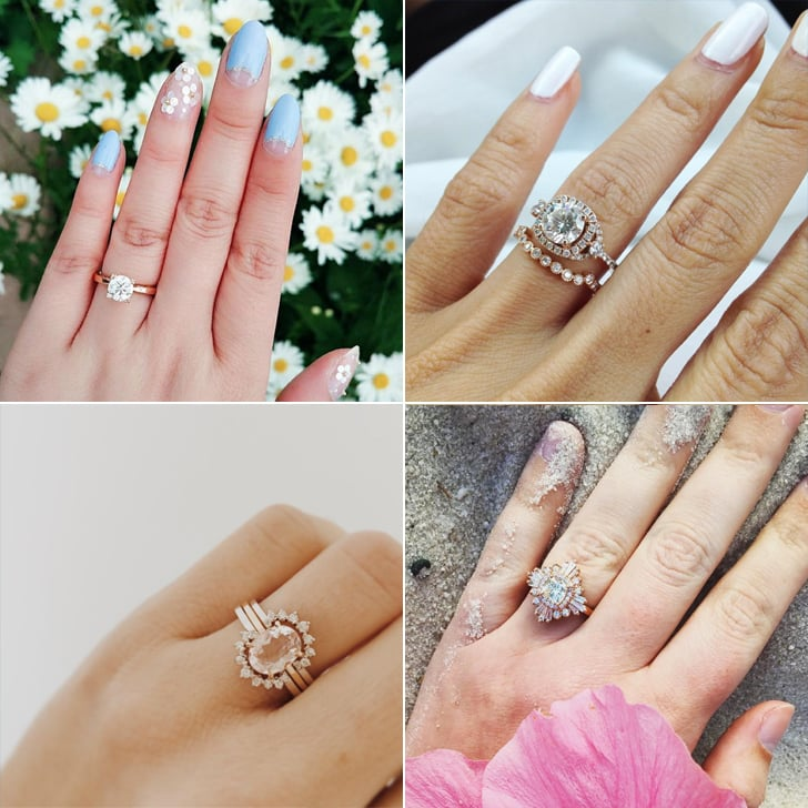 Rose Gold Engagement Ring Photos