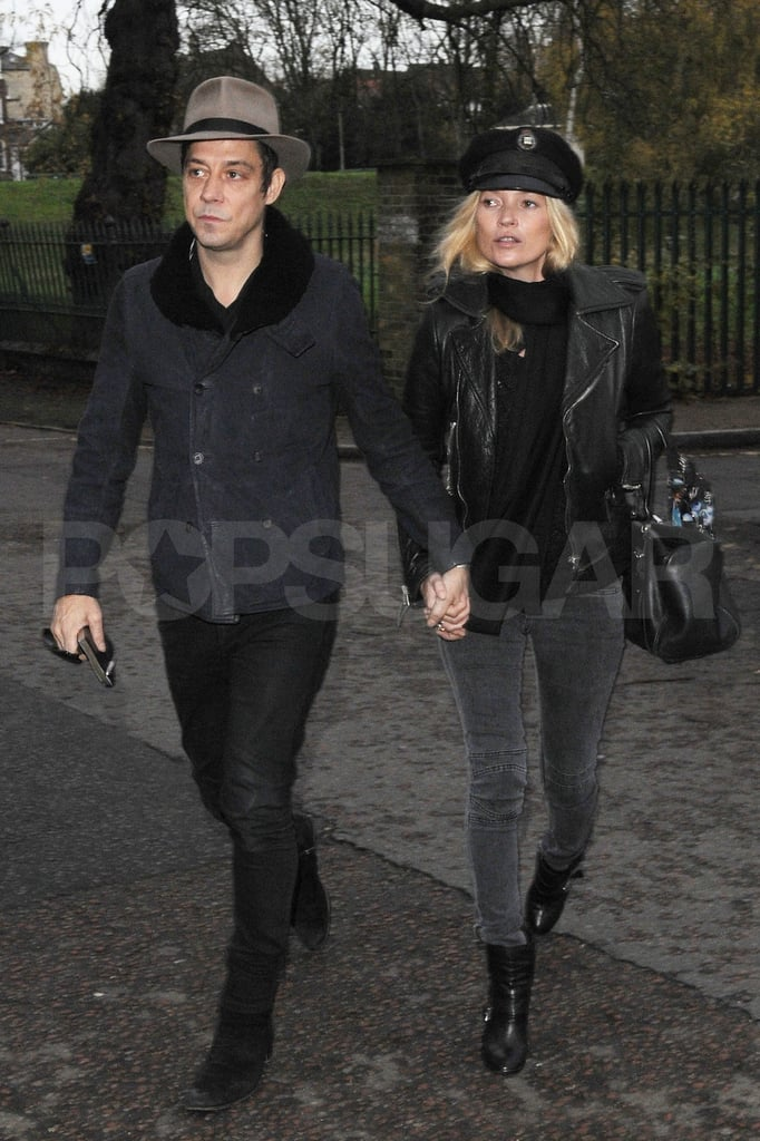 Kate Moss and husband Jamie Hince arrived at their new London home.
