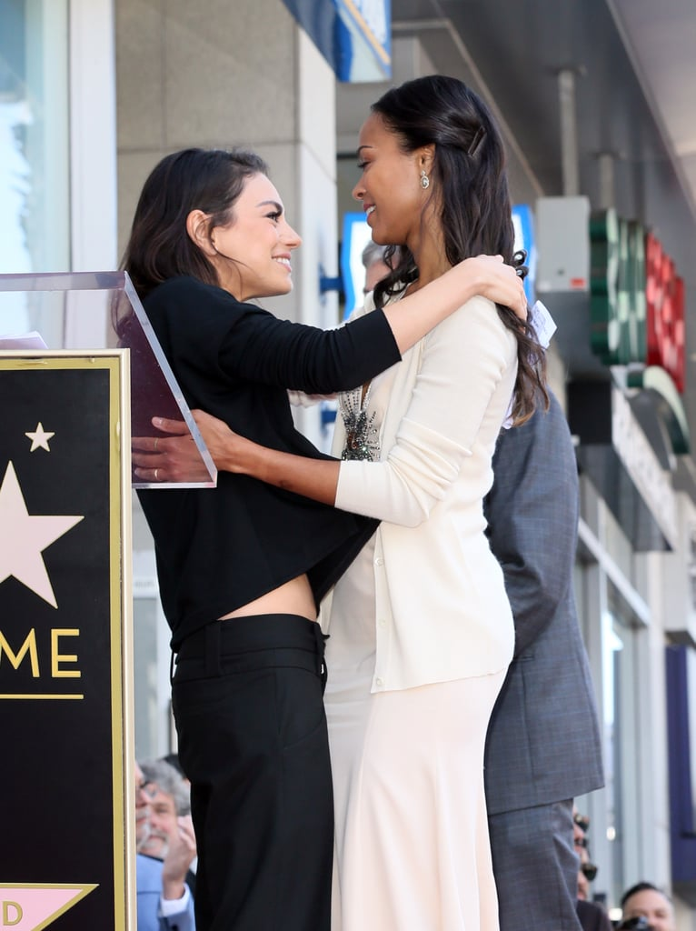 Zoe Saldana and Sons at Hollywood Walk of Fame Ceremony ...