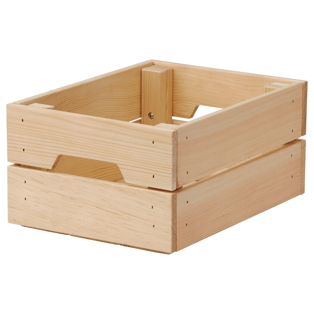 Load it up with everything you need for dinner under the stars, and then take it all back to the kitchen in one go. Box also charade as a planter, lift, tray and storage unit. KNAGGLIG Box ($9.99)