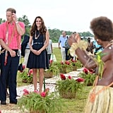 Kate Middleton and Prince William had a tour when they were welcomed to Marau in September.