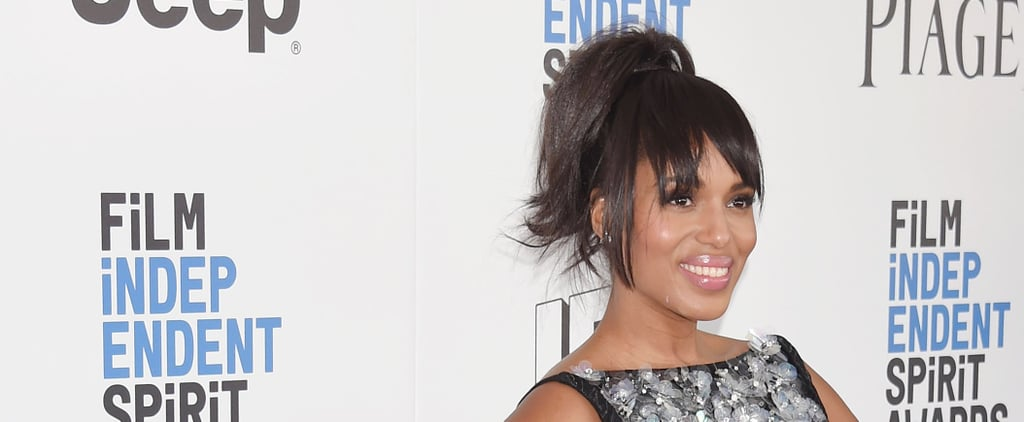 Kerry Washington's Hair and Makeup at the 2017 Spirit Awards