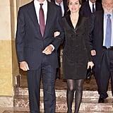 In November, Queen Letizia and King Felipe VI were all smiles at the Francisco Cerecedo Journalism Award Ceremony in Spain.