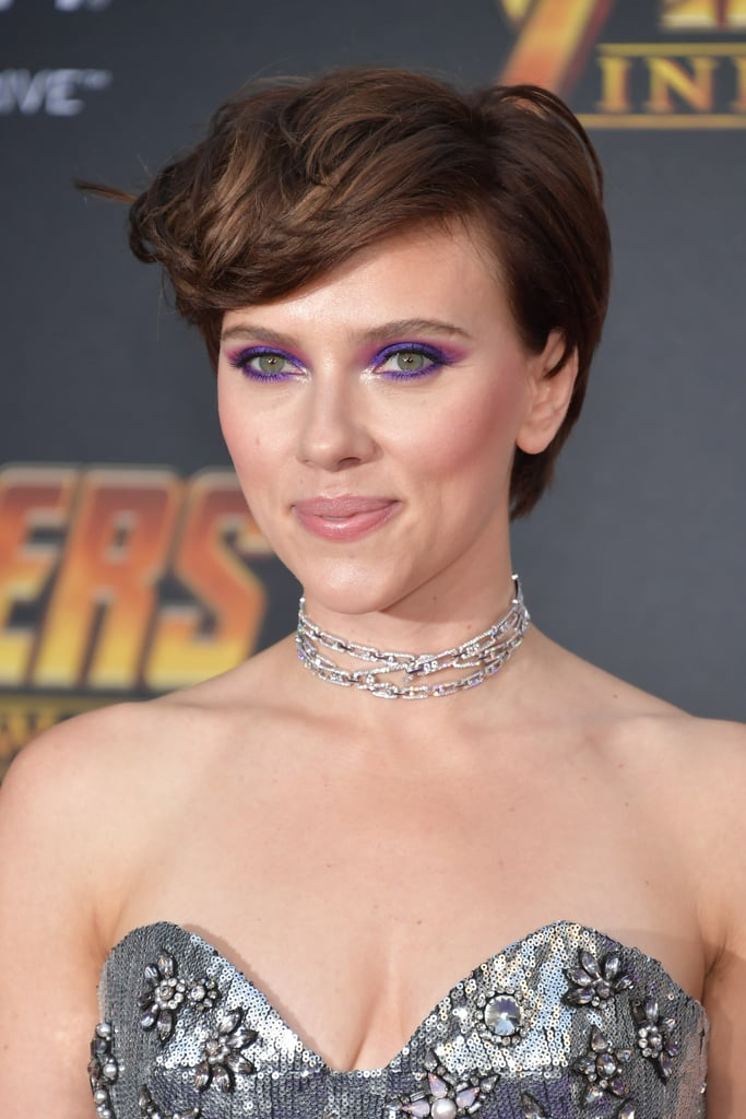 Scarlett Johansson S Brown Hair April 2018 Popsugar Beauty