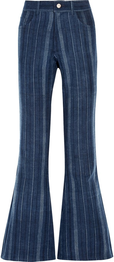 The Elder 'Statesman' Striped High-Rise Flared Jeans ($395)