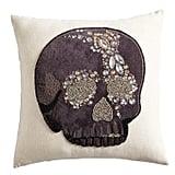 Beaded Skull Pillow