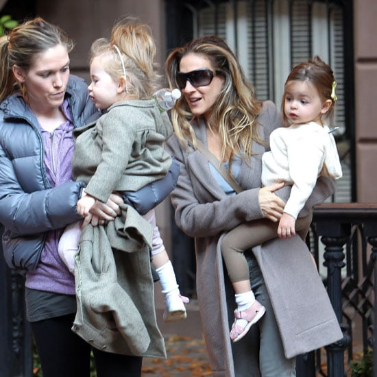 SJP & Matthew Broderick Take Kids to School in NYC Picutres