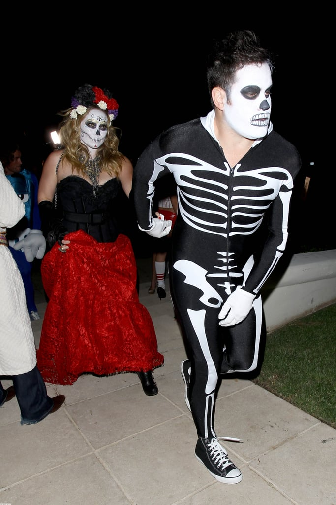 Hilary Duff and Mike Comrie painted their faces for a party in LA ...