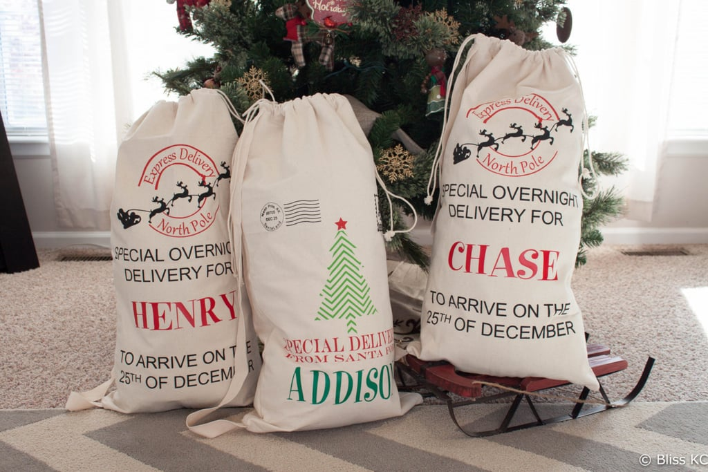 Large Personalized Santa Sack Gift Bag