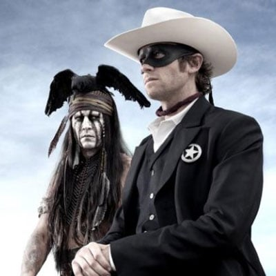 First Picture From The Lone Ranger with Johnny Depp and Armie Hammer