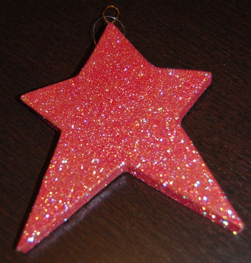 The glittered star