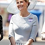 Sophie in dove grey Jane Taylor for Ascot 2015.