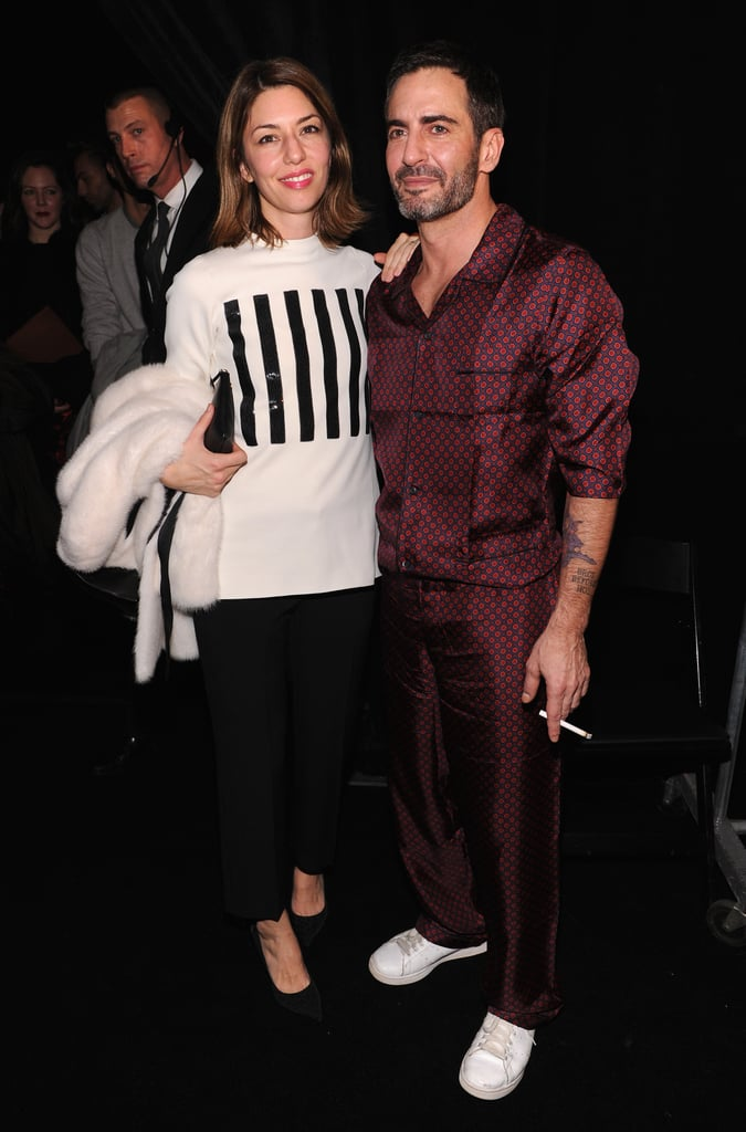 Sofia Coppola hung out with friend Marc Jacobs.