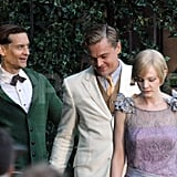Leonardo DiCaprio, Carey Mulligan, and Tobey Maguire chatted in a Sydney park.