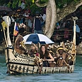 Kate Middleton took a boat to Tuvanipupu Island.