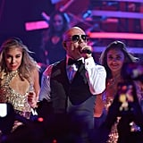 Pitbull and Yandel Performing a Medley of Songs
