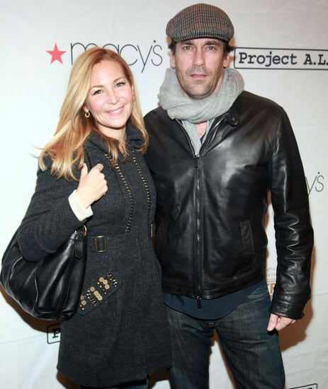 Jennifer Westfeldt and Jon Hamm at the Tomorrow Is Tonight Benefit in NYC