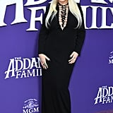 Christina Aguilera and Family at The Addams Family Premiere